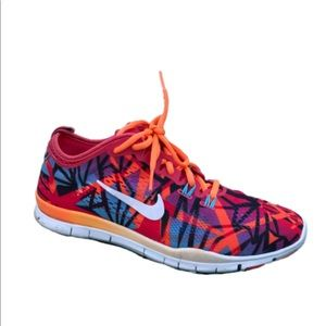 Nike Free bright colorful running shoes size 8